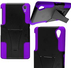 "myLife Protective Slim Armor Kickstand Case for the Sony Xperia Z2 {Violet Purple and Black ""Smooth Deluxe Finish"" Two Piece NEO Hybrid with Rubber Bumper Shell} myLife Brand Products http://www.amazon.com/dp/B00PJ3QRNM/ref=cm_sw_r_pi_dp_aL3Aub1E0H1E3"