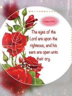 Psalms 34:15 KJV
