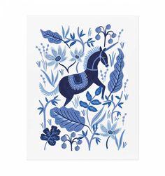 Sapphire Folk Illustrated Art Print from riflepaperco.com LOVE their stuff!!!