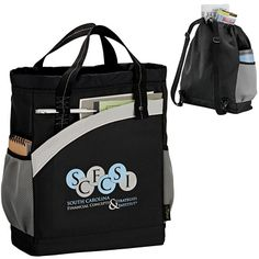 Teachers will love this Tote! Add School Name or Logo Promotional Arches Recycled Poly Backpack Tote   Customized Backpacks   Promotional Backpacks