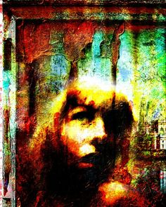 """""""Window"""" Affordable prints and originals available at: www.mackill.com (Link in bio).  #art #painting #mixedmedia #portrait"""