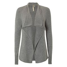 Buy White Stuff Flighty Waterfall Cardigan, Cygnet Grey Online at johnlewis.com