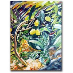 Trademark Art Lemon Tree Canvas Art by Colleen Proppe, Size: 35 x 47, Multicolor