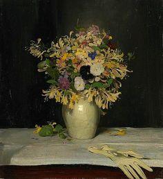 """The Black Pansy"" by William Nicholson, British artist, 1872-1949"