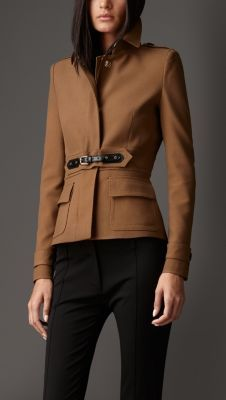 Equesterian Buckle Military Jacket by Burberry