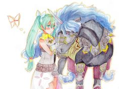 Frey and Dirasu from Rune Factory 4. Already my OTP and the game isn't even out yet!