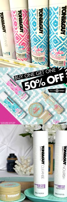 Who loves a SALE at Target?  Buy 1, Get 1 50% off Toni & Guy hair care http://freebies4mom.com/trytoniguy ToniGuyGlam ad
