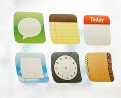 iPhoneのアイコン風デザインの付箋紙「sticky app」が発売
