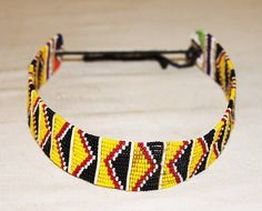 AFRICAN MAASAI MASAI BEADED ETHNIC TRIBAL CHOKER NECKLACE JEWELRY - KENYA #47 #Handmade