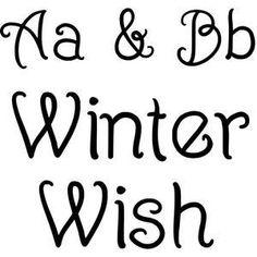 WINTER WISH FONT by Gina Marshall Design ID #108952