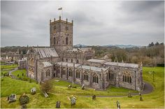 St David's Cathedral, St. David's, West Wales, UK St Davids Cathedral, Saint David's Day, Wales Uk, Irish Sea, Cymru, Tree Houses, Cathedrals, Wonderful Places, Temples
