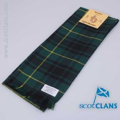Pure wool scarf in MacArthur modern tartan from Scotclans