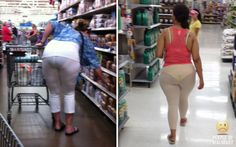 People of Walmart- Legging FAIL. Again, leggings shouldn't look like sheer pantyhose, once on.