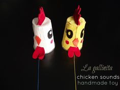 DIY handmade toy - it is an old fashioned toy that makes chicken sounds.