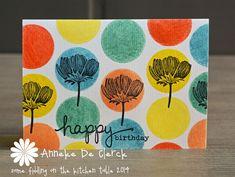 Card by Anneke De Clerck using Darkroom Door Carved Flowers and Simple Sayings Rubber Stamps.