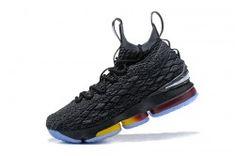 Real Zapatillas Nike LeBron 15 Hombre Ice Negro Mejores