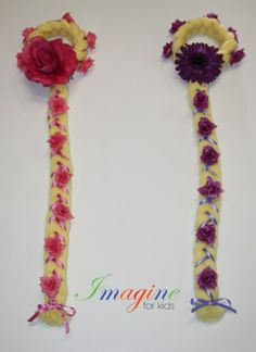 We can make princess head pieces to compliment any princess costume.   Here is our Rapunzel inspired pieces for 2 very special ladies.  Made by Imagine For Kids  Enquires sales@imagineforkids.com.au  www.fb.com/imagine4kids Head Pieces, Rapunzel, Compliments, Costumes, Inspired, Princess, Halloween, How To Make, Kids