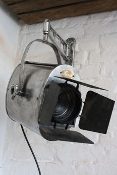 Vintage Furse theatre wall light with barn doors- Could be cool to hang on the wall :)