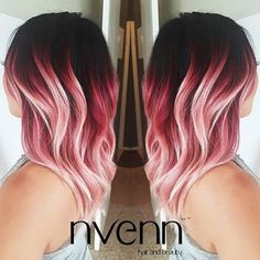 Keep the Cut & Corals coming! LOVE this one from @nvennhairbeautybar! Post yours to #behindthechair!  #behindthechair #coralhair #balayage #handpainted #salon #ombre #colorist #colormelt #balayage #haircut #hairdresser