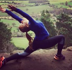 Hill top outdoor yoga