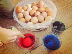 Educação Domiciliar Atividade Artística e sensorial : Pintando ovos de Páscoa