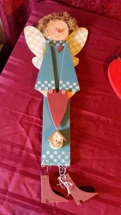 Cute wooden Angel. Measures 23 tall.