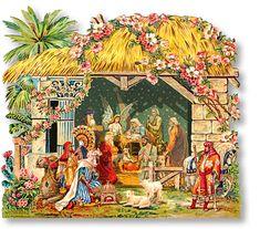Egyptian Crèche Nativity Sheet - PaperModelKiosk.com