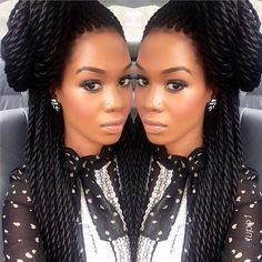 Senegalese Twist (akaL Jumbo Senegalese, Smaller Havanna Twist Or Marley  Twist)   Expression