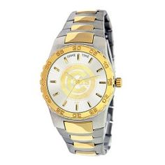The Executive Mens Team Watch makes everyone a manager and features a gold tone logo, bezel and accents. Stainless steel two tone bracelet, stainless steel back and Japan Miyota quartz movement, Water resistant to 3 ATM (99 Feet) and a Limited LifeTime warranty. - A quality product from the licenced US sports goods, US sports wear and US sports merchanise range at Distinct Sports Goods