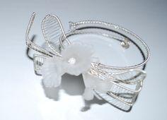 delicate like flower Acrylic Flowers, Statement Jewelry, Silver Plate, Delicate, Bracelets, Unique, Rings, Etsy, Beautiful