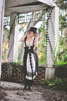Gretel black ivory eco dress by amandarosebridal on Etsy, $220.00