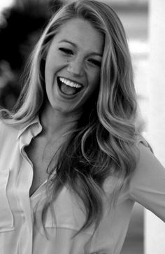 Always love Blake Lively's healthy, thick hair.  #hairfinity
