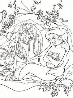 La Sirenita :: Si hablamos de dibujos animados, la factoría Disney no puede faltar entre ellos. Y por ello hemos querido rendirle un homenaje seleccionando dibujos infantiles Disney con algunos de sus personajes más carismáticos.