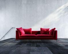 Hugo Sofa - new velvet (cardinal)