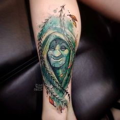 wtercolor tattoo willow Pocahontas