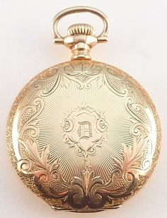 Antique 0 Size Lady Waltham Hunting Case Pocket Watch - Beautiful Case ! #Waltham