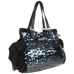 Juicy Couture Star Shine-Sequin Velour Shoulder Bag - designer shoes, handbags, jewelry, watches, and fashion accessories | endless.com