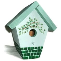 Handmade & Hand Painted Bird House FREE SHIPPING by JuliesGiftbox