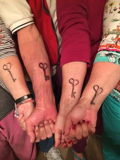 Keys to Infinity with love Three sisters and our brother went and got tattoos during our weekend celebration of our moms 85th birthday. The tatt for me also symbolizes the loss of my dad / my hero, he passed one year ago today. (Our last name is Keyes)