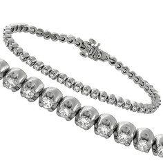 Estate_2.50ct_Round_Cut_Diamond_14k_White_Gold_Tennis_Bracelet | New York Estate Jewelry | Israel Rose