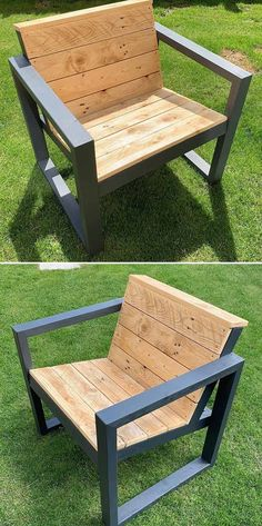 Potentiate the glory of your home with our trendy and wonderful wood pallet furniture ideas. There exists a huge number of pallet furniture ideas which not only attract you but confuse you as well. Wood Pallet Furniture, Fine Furniture, Wood Pallets, Furniture Ideas, Pallet Wood, Garden Furniture, Pallet Chairs, Outdoor Pallet, Pallet Projects