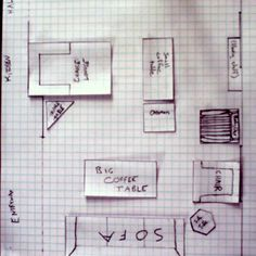 Graph paper! Easily create a scale drawing, then pre-arrange your interiors. Too easy.