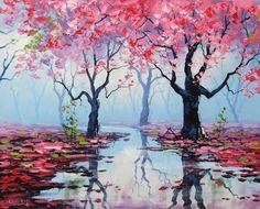 Misty Blossoms by artsaus.deviantart.com