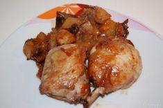 Pollo patate e funghi