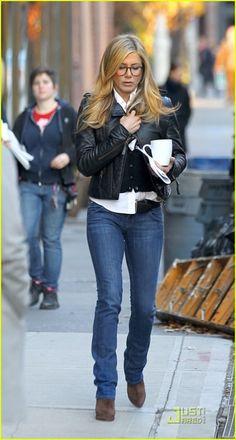 Jen wearing Oliver Peoples eyewear
