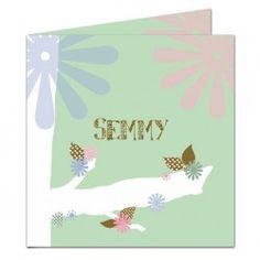 Geboortekaartje 'Semmy' (incl. envelop)