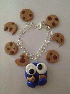 cookie monster charm bracelet