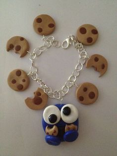 cookie monster charm bracelet by Dottyandthebug on Etsy, £6.99