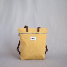 Kids shoe online Ölend bags Backpack in yellow fabric