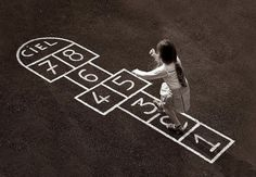hopscotch -Nostalgia When children played out in the sun! Those Were The Days, The Good Old Days, Childhood Games, Childhood Memories, Nostalgia, Hopscotch, I Remember When, Oldies But Goodies, Cheat Sheets
